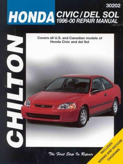 chilton s honda civic and del sol 1996 00 repair manual covers all rh pinterest com 1996 Honda Civic 4 Door honda civic repair manual years 1996 to 2000
