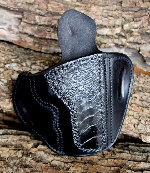 Custom Leather Holster for 1911 Commander by TinBadgeLeather