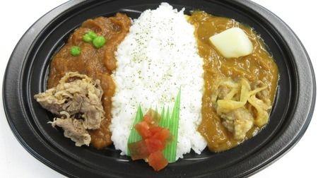 懐かしの東海地区のミニストップにオリエンタルハヤシカレー--ひと皿で2つの味
