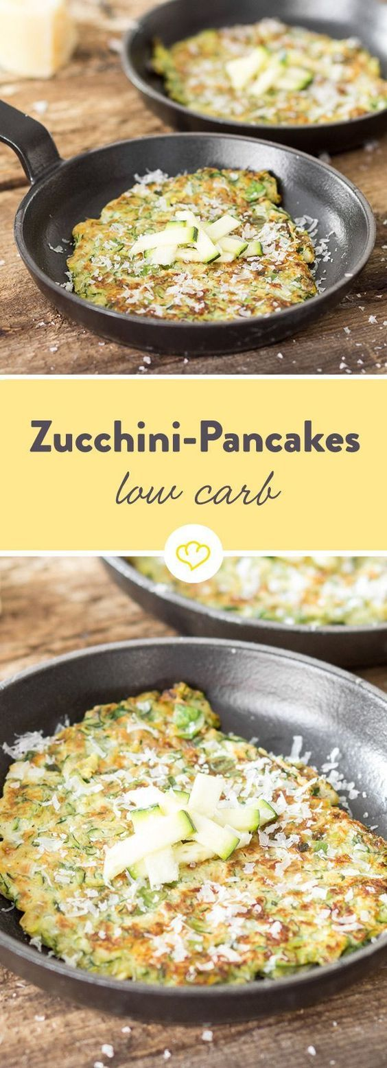 So knusprig wie Fritters! Low-Carb-Pancakes mit Zucchini #gezondeten