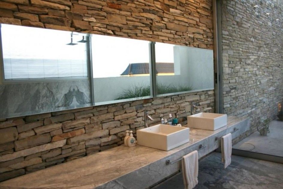 Architecture Rustic Bathroom Design Looks Great Apply Nature