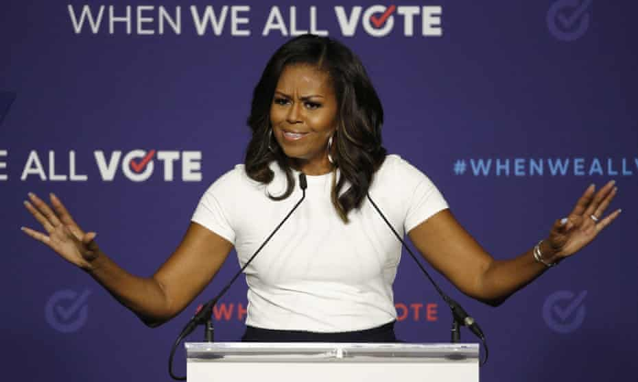 Michelle Obama announces new vote-by-mail push