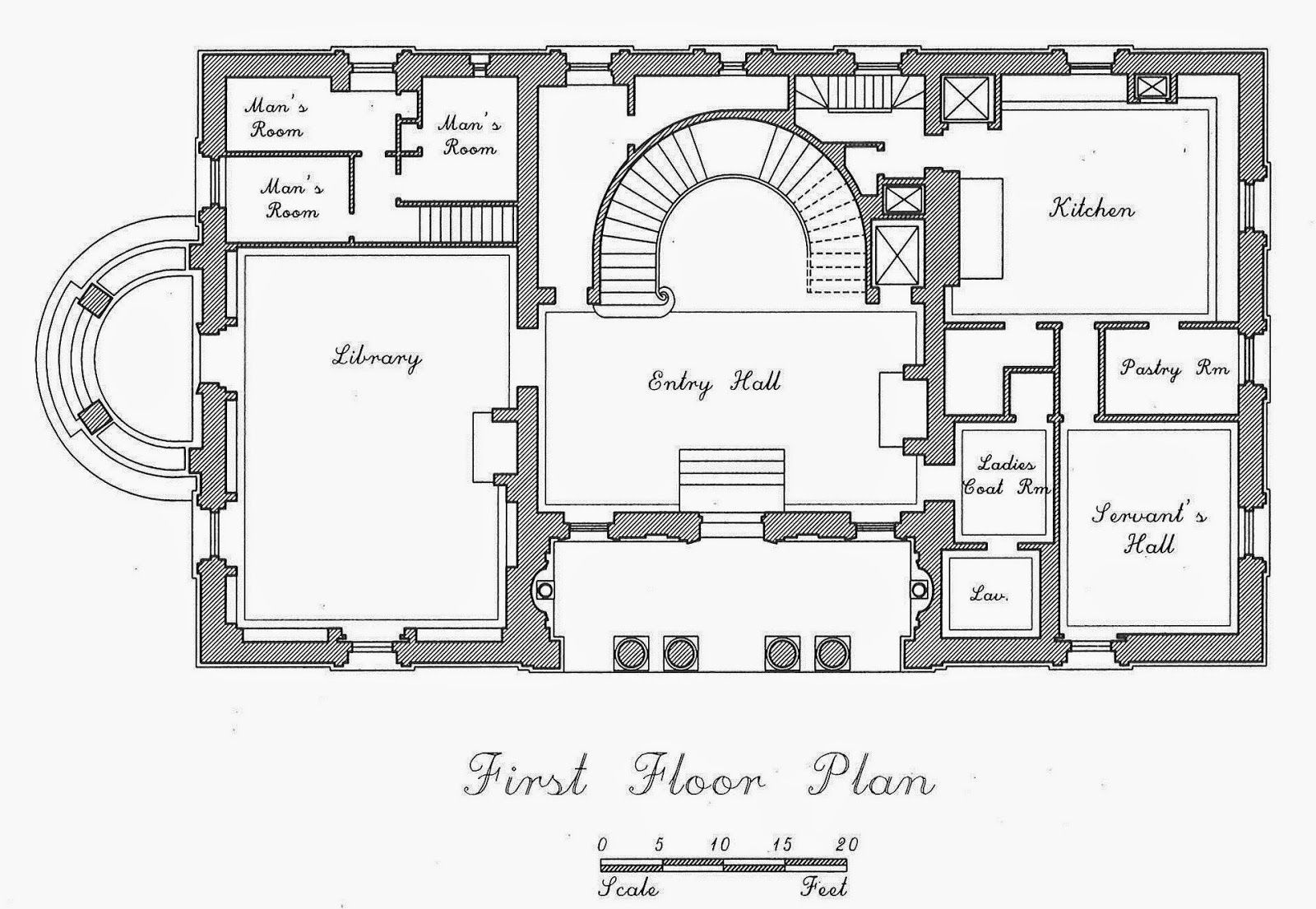 John Russell Pope S Mccormick Residence Embassy Of Brazil Architectural Floor Plans Guest House Plans Mansion Floor Plan