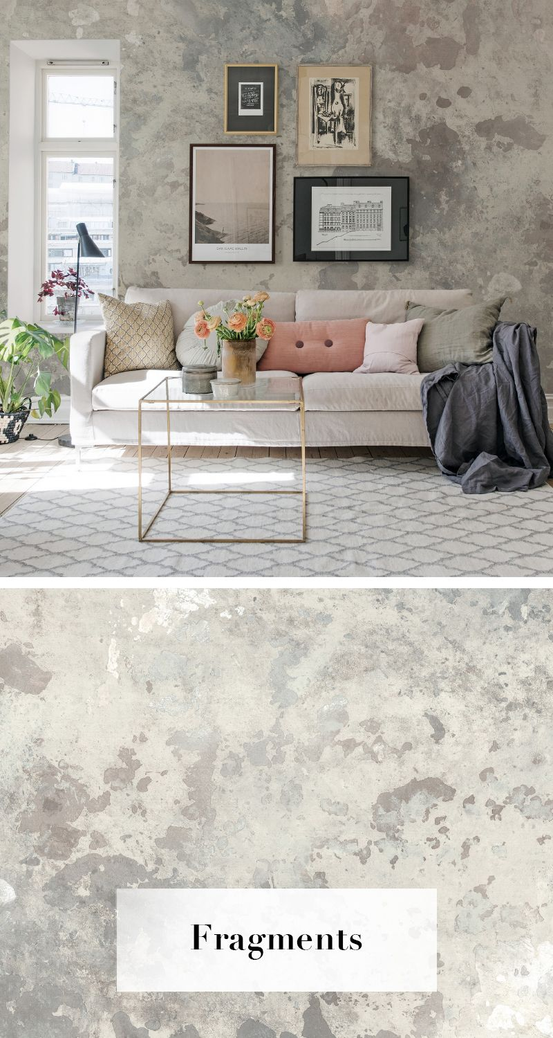 Fragments | Vintage Walls | Home wallpaper, Wall wallpaper ...