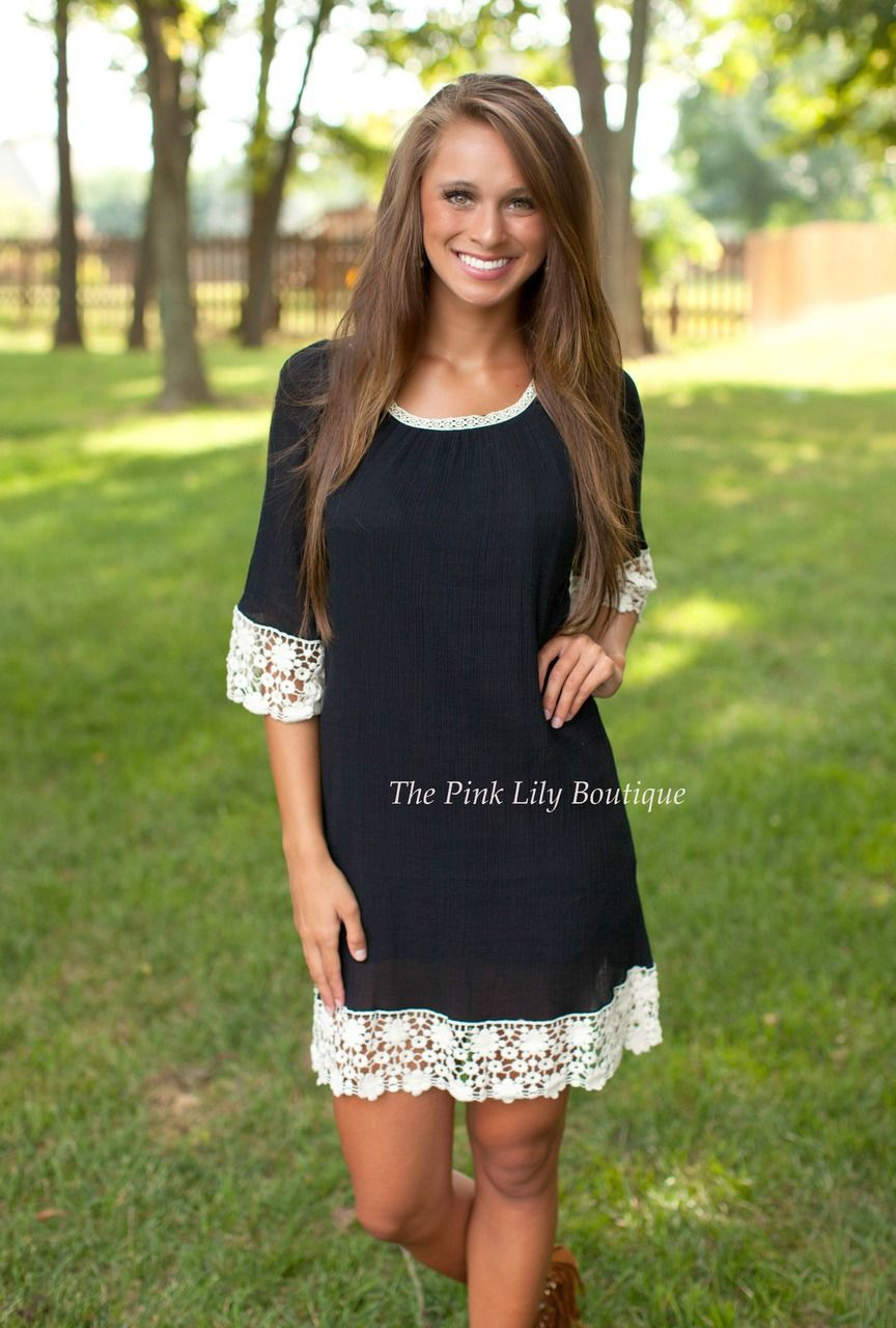 The Pink Lily Boutique - Black Lace Dress, $38.00 (http://thepinklilyboutique.com/black-lace-dress/)