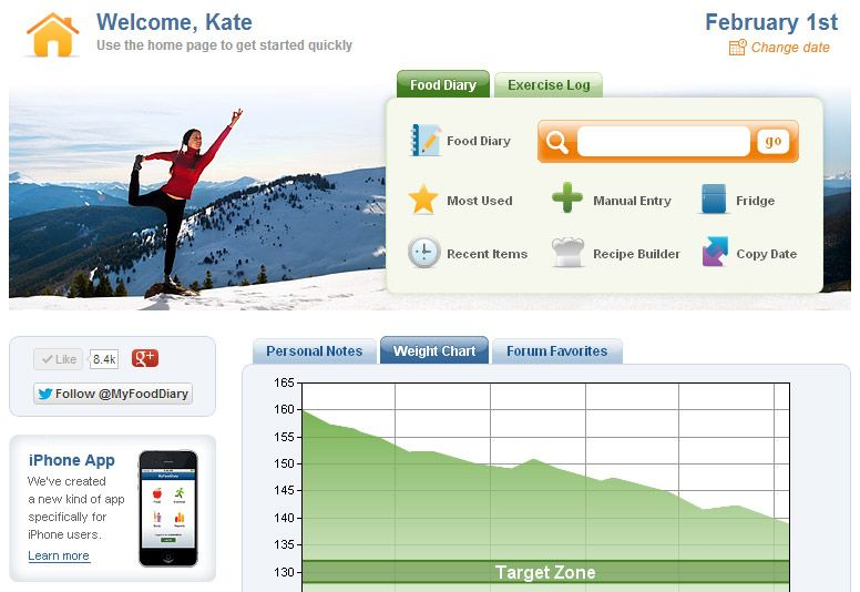 my food diary online calorie counter w diet journal exercise