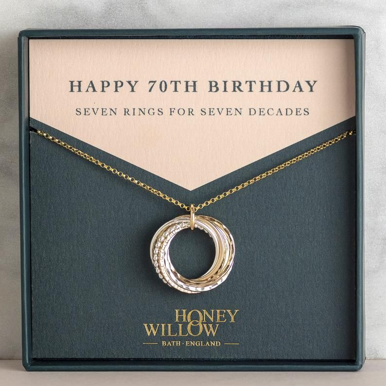 70th birthday gift 70th birthday necklace 70th gift for
