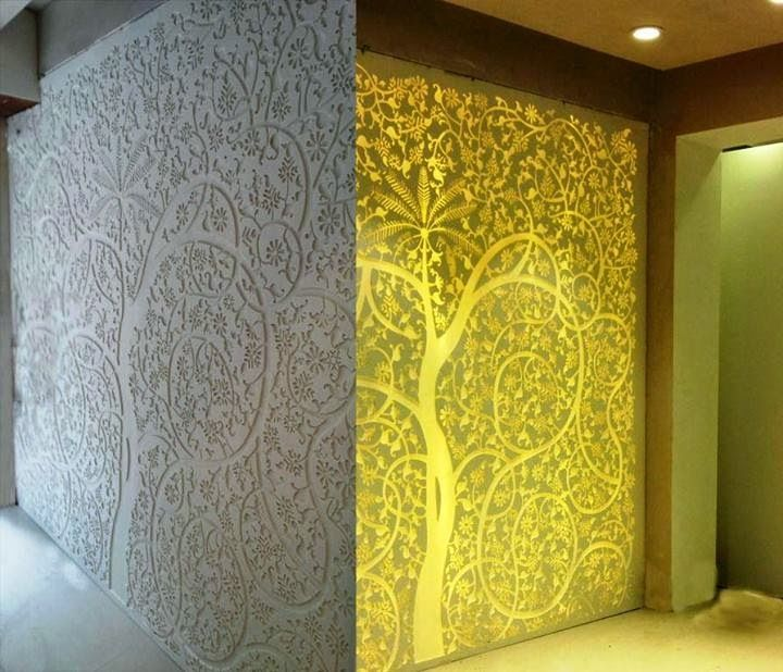 Interior And Exterior Acrylic And Mdf Jali Designer