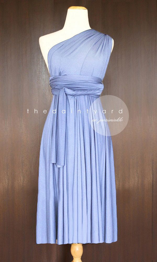 2754de66053 TDY Periwinkle Short Straight Hem Infinity Dress Multiway Bridesmaid ...