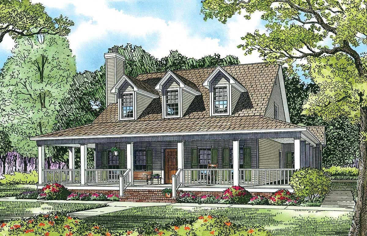 Plan 60615nd Split Floor Plans With Angled Garage Farmhouse Style House Plans Barn Style House Plans Farmhouse Style House