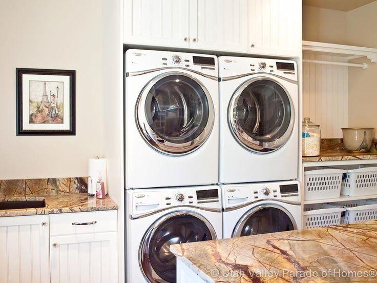 Stacked Washer Dryer Closet Double Bat Laundry