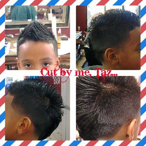 Kid Mohawk With Taper Cut By Me Taz Lady Barber Taz Cutz C