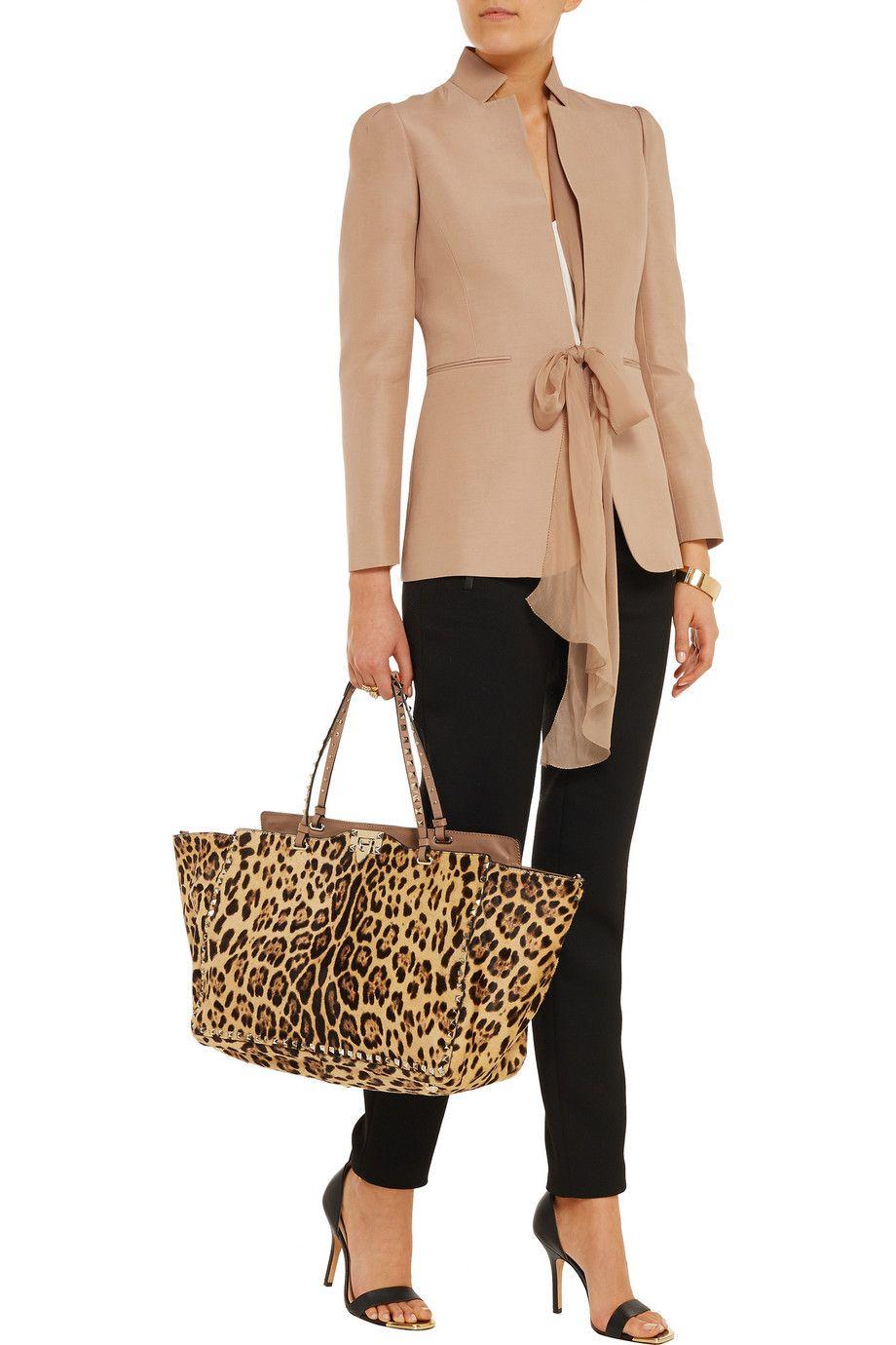 ValentinoSilk and cotton-blend faille blazer