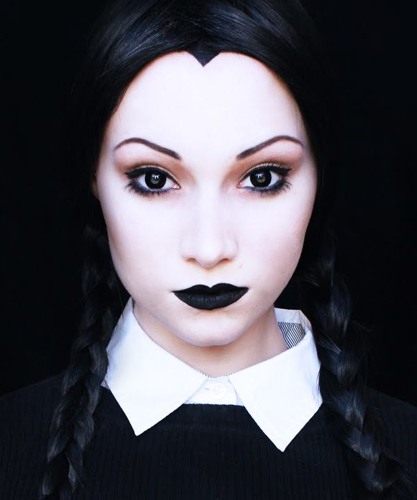 Wednesday Addams Halloween Makeup Tutorial                                                                                                                                                                                 More