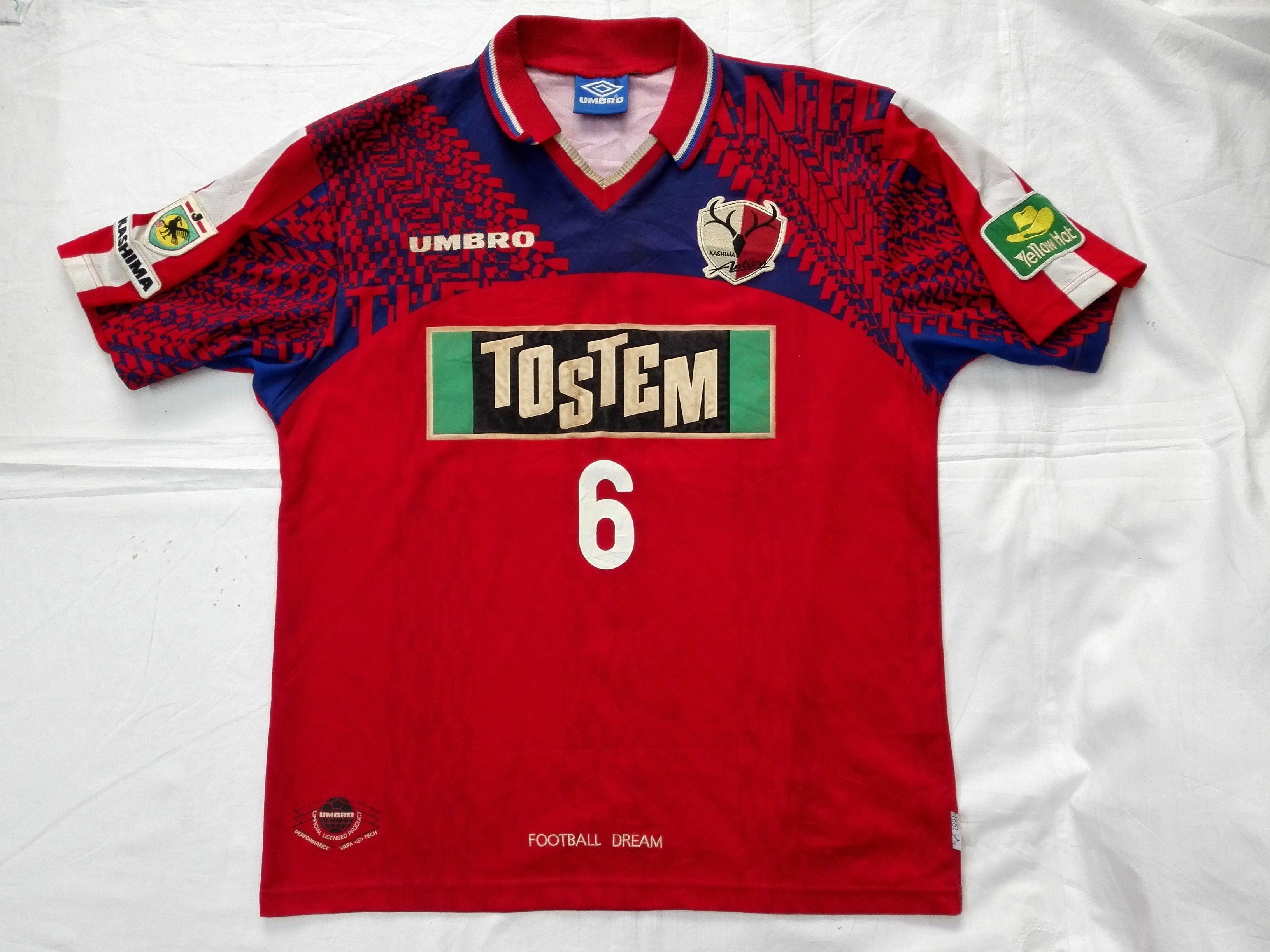 e1eecc8210 Vintage 90s FC Kashima Antlers Jersey Football Soccer J-League Japan  #kashimaantlers #jleague #vintagejersey