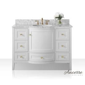 ancerre designs lauren 48 in white double sink bathroom vanity with rh pinterest com
