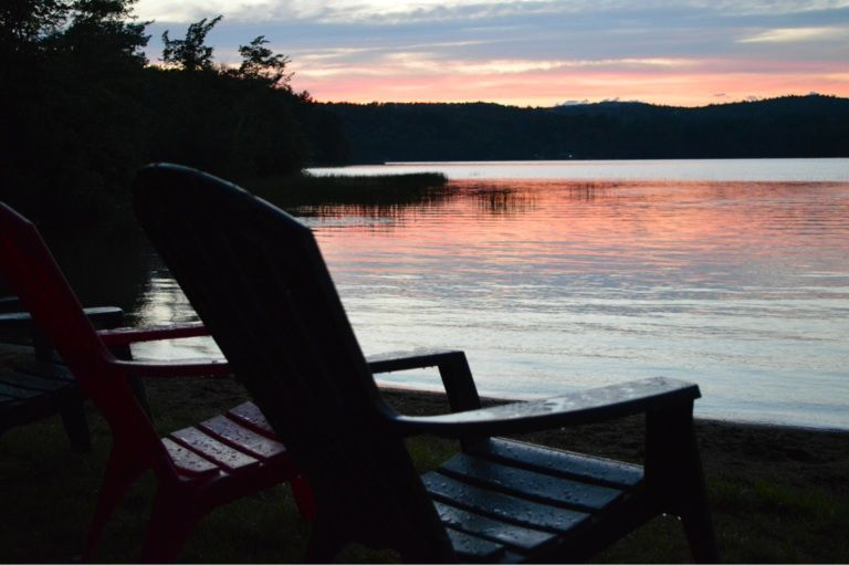 sunset on jenness pond northwood nh the empty seat outdoor rh pinterest com