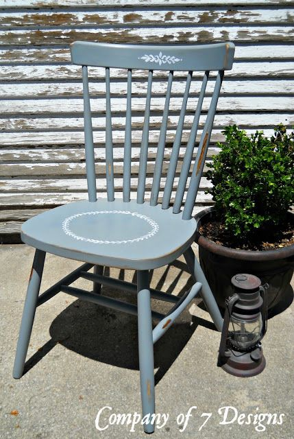 company of 7 designs mixing bowls and chalk paint chair reveal rh pinterest com