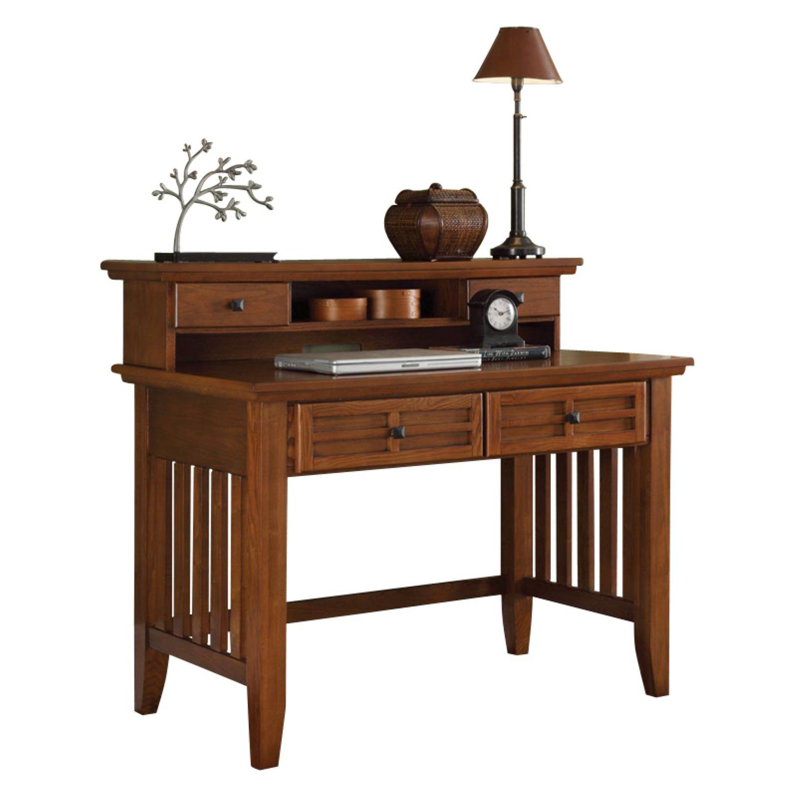 home styles arts crafts student desk with hutch cottage oak rh pinterest com