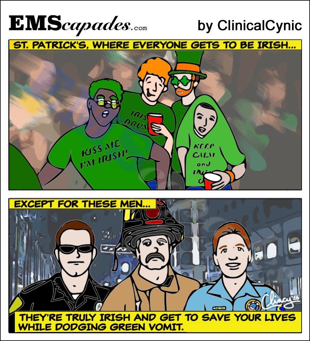 Everyone is irish on st patricks day ems humor irish