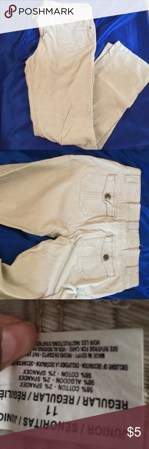 L.E.I Beige Pants! Straight leg size 11 in juniors beige color good condition L.e.i Pants Straight Leg