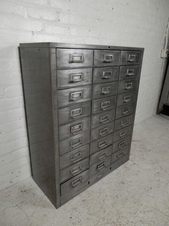 twenty seven drawer industrial metal file cabinet check dwell rh pinterest com
