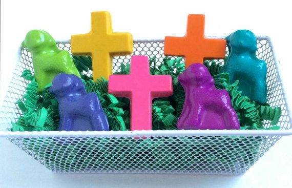 Christian religious crayons easter basket gift candy alternative items similar to christian religious crayons easter basket gift candy alternative cross lamb sheep crayons church sunday school grandchild easter gift negle Image collections