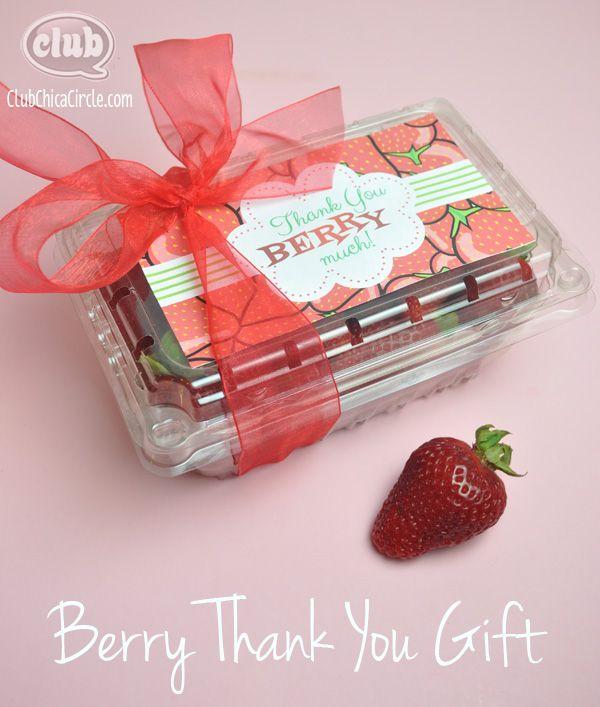 berry thank you homemade gift idea gift ideas homemade teacher rh pinterest co uk