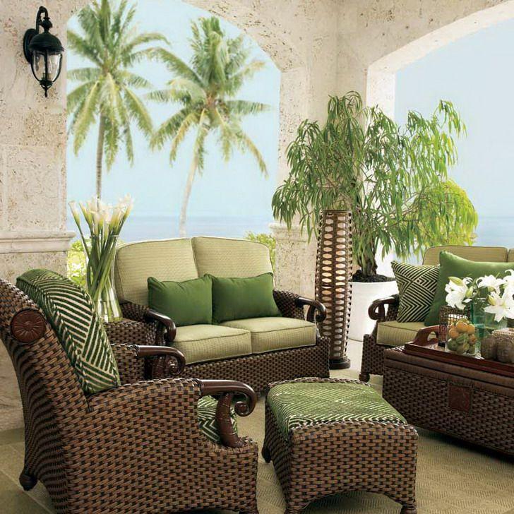 Living Room Furniture Sets   Living Room, Living Room Rattan Furniture Set  Brown Color: