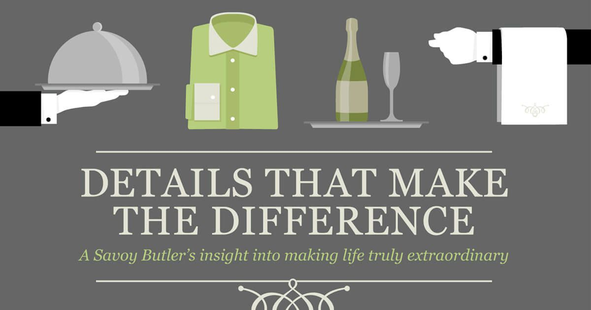 Details that make the difference – A Savoy Butler's insight into making life truly extraordinary