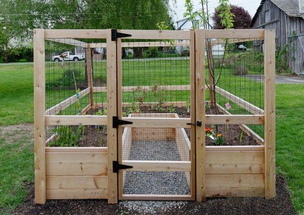 8'x8' Just-Add-Lumber Vegetable Garden Kit - Deer Proof ...