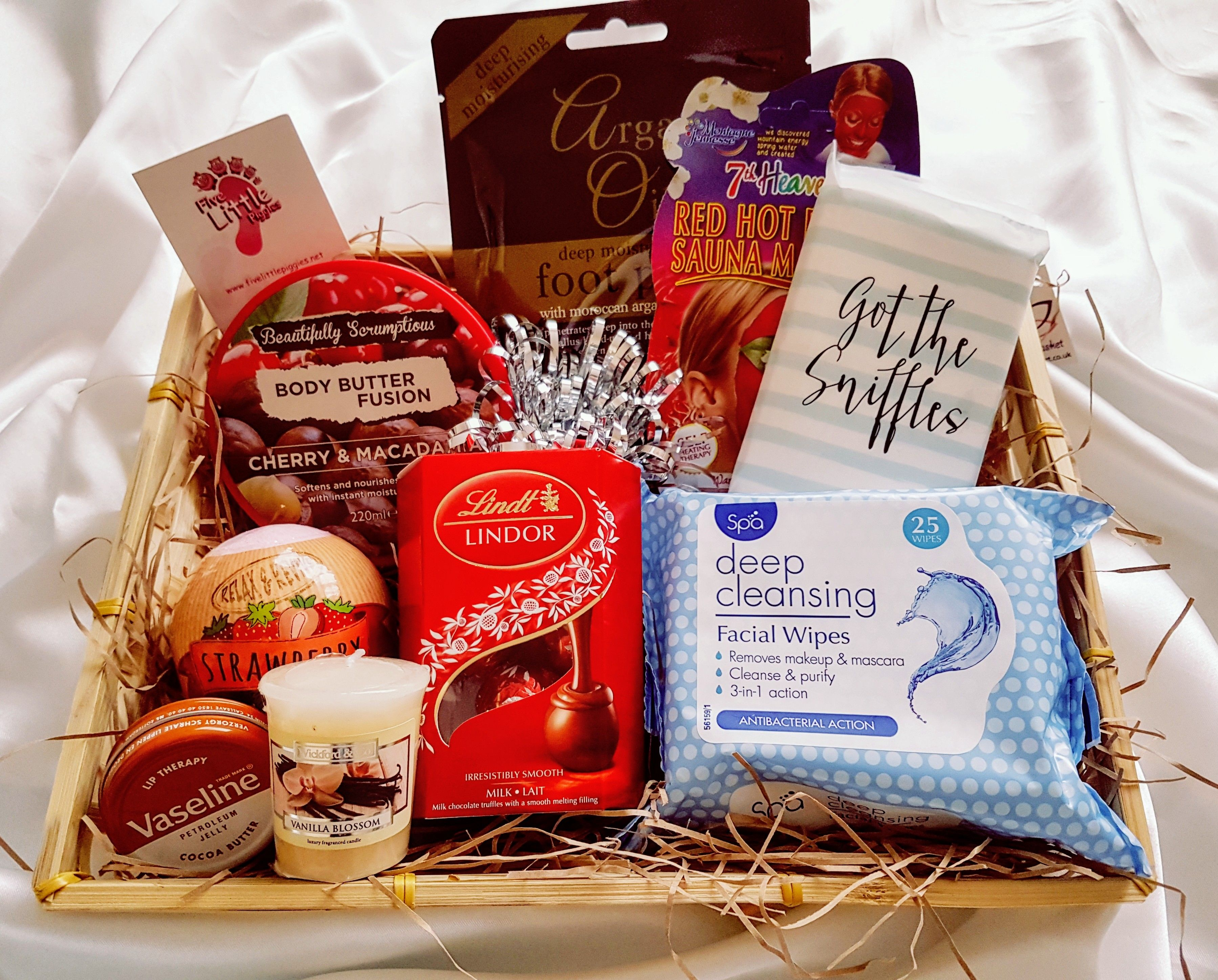 Pin By Blankcanvas2art On Christmas Pamper Hamper Get Well Soon Gifts Gift Subscription Boxes