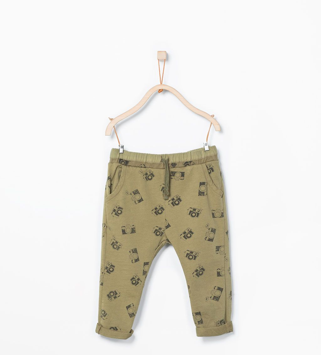 Camera print trousers-Trousers-Baby boy (3 months - 3 years)-KIDS | ZARA United States
