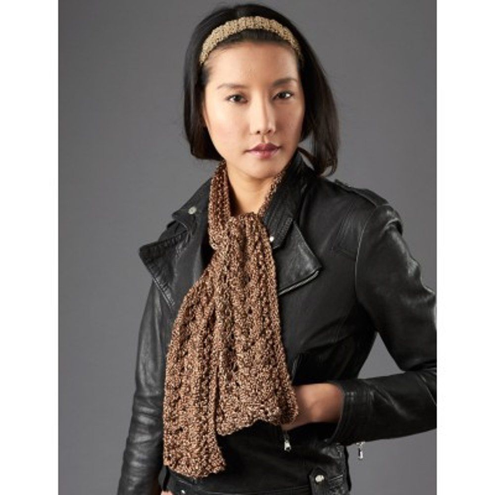 Lace and Cable Detail Scarf in Patons Metallic. Discover more ...