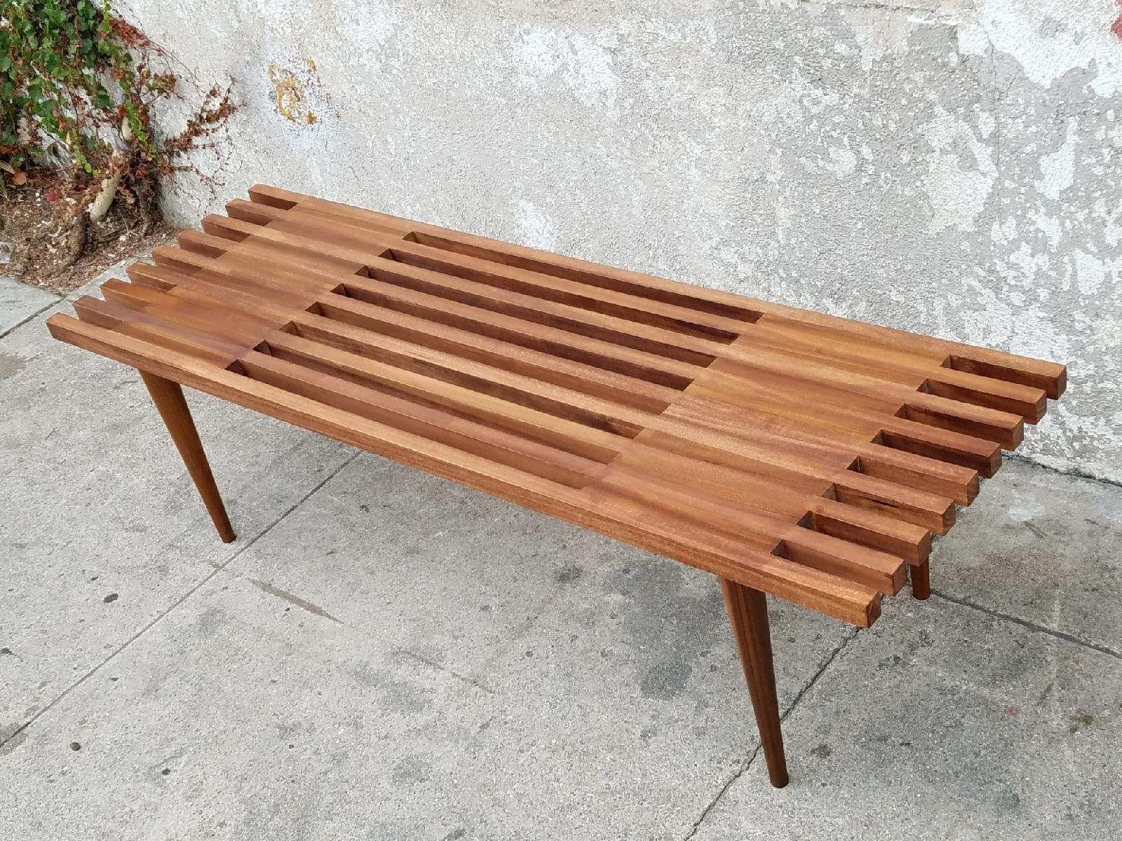 Nice Slat Bench Coffee Table