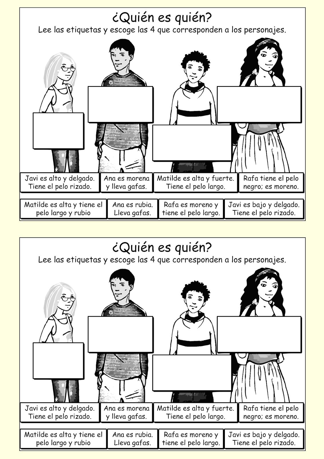 Me encanta escribir en español: El aspecto físico: ¿Cómo son ...