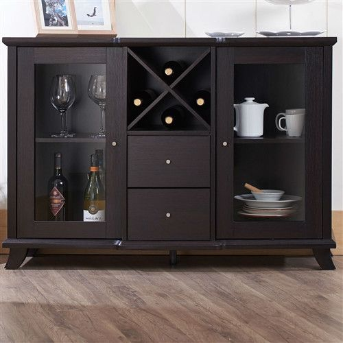 dark finish buffet sideboard cabinet home is a where the heart is rh pinterest com
