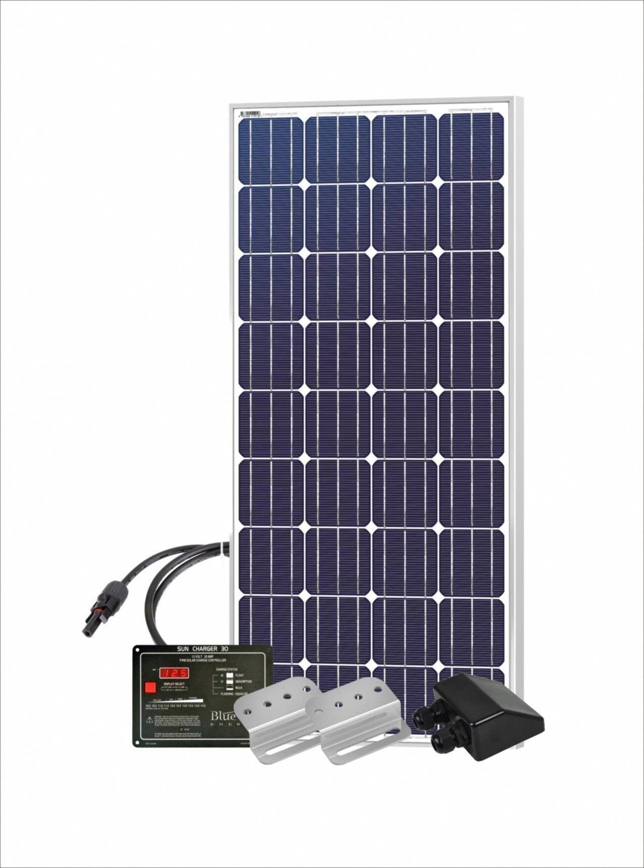 150 Watt 12 Volt Dc Rv Solar Panel Starter Kit With 150w Solar Panel Blue Sky Energy Sc30 Charge Controller Sola In 2020 Rv Solar Panels Best Solar Panels Solar Panels