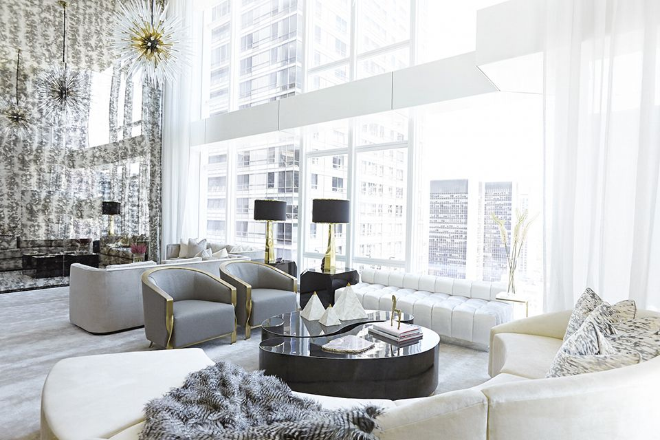 9 Rooms with Glittering Gold Accents Interiors, Living rooms and Room