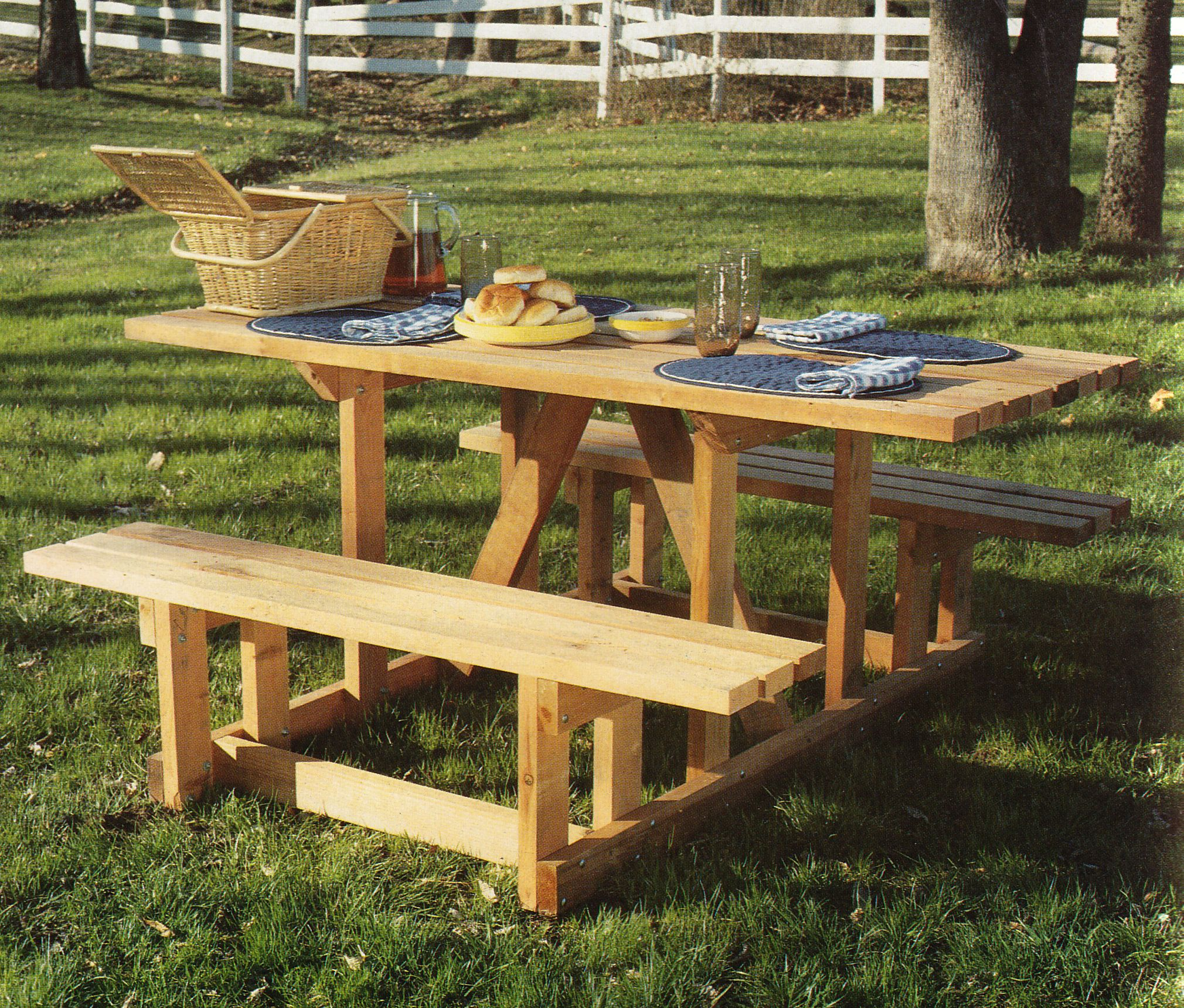A unique picnic table design from 2x4 Furniture for Indoors and ...
