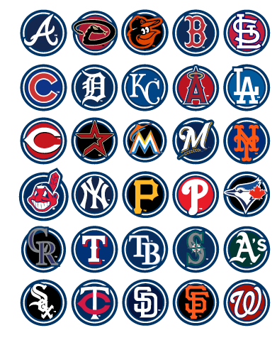 Pin By Erica Rhodes On For The Love Of The Game Mlb Team Logos Baseball Teams Logo Mlb Teams