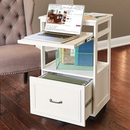 Hampshire Mobile Desk Bedroom Desk Organization Mini Office Computer Desk Organization