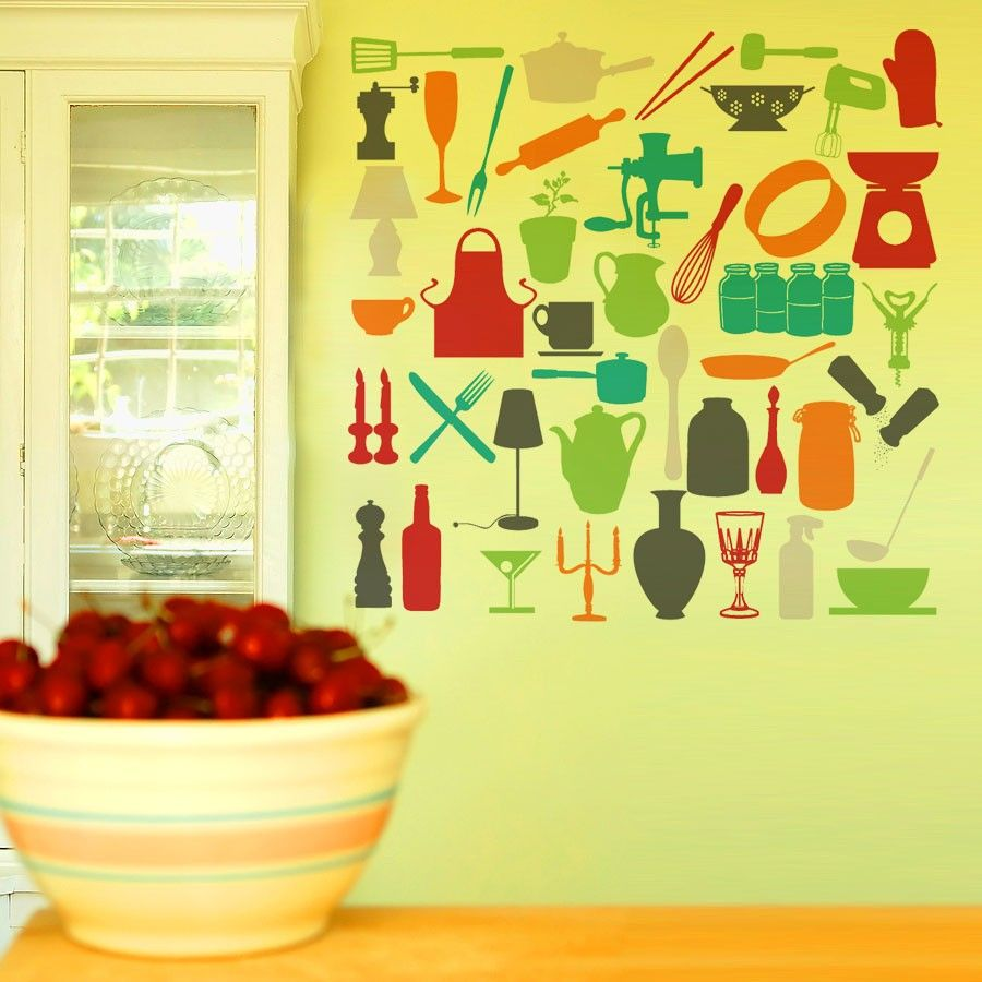 Vinyl Wall Decal Sticker Art Kitchen Kitsch by wordybirdstudios ...