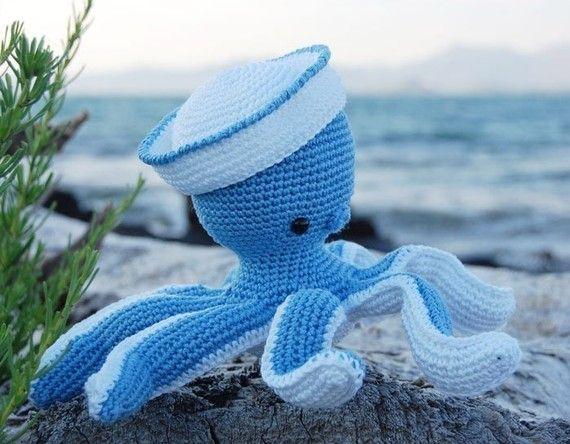 Amigurumi Crochet Octopus Patern - Sailor Octopus - Softie - Plush ...