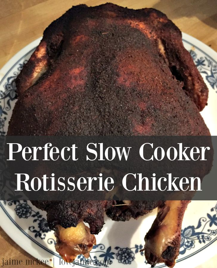 Meal planning & slow cooker rotisserie chicken - Love, Jaime #mealplanning #chicken #slowcooker #recipe