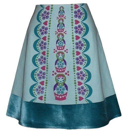matryoshka skirt  aquamarine  russian by madewithlovebyhannah, $68.00  @emmi sankari Rose