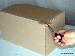 Technique Comment Krafter Vos Creations En Carton Creer Ses Meubles En Carton Carton Ondule Cartonnage Carton