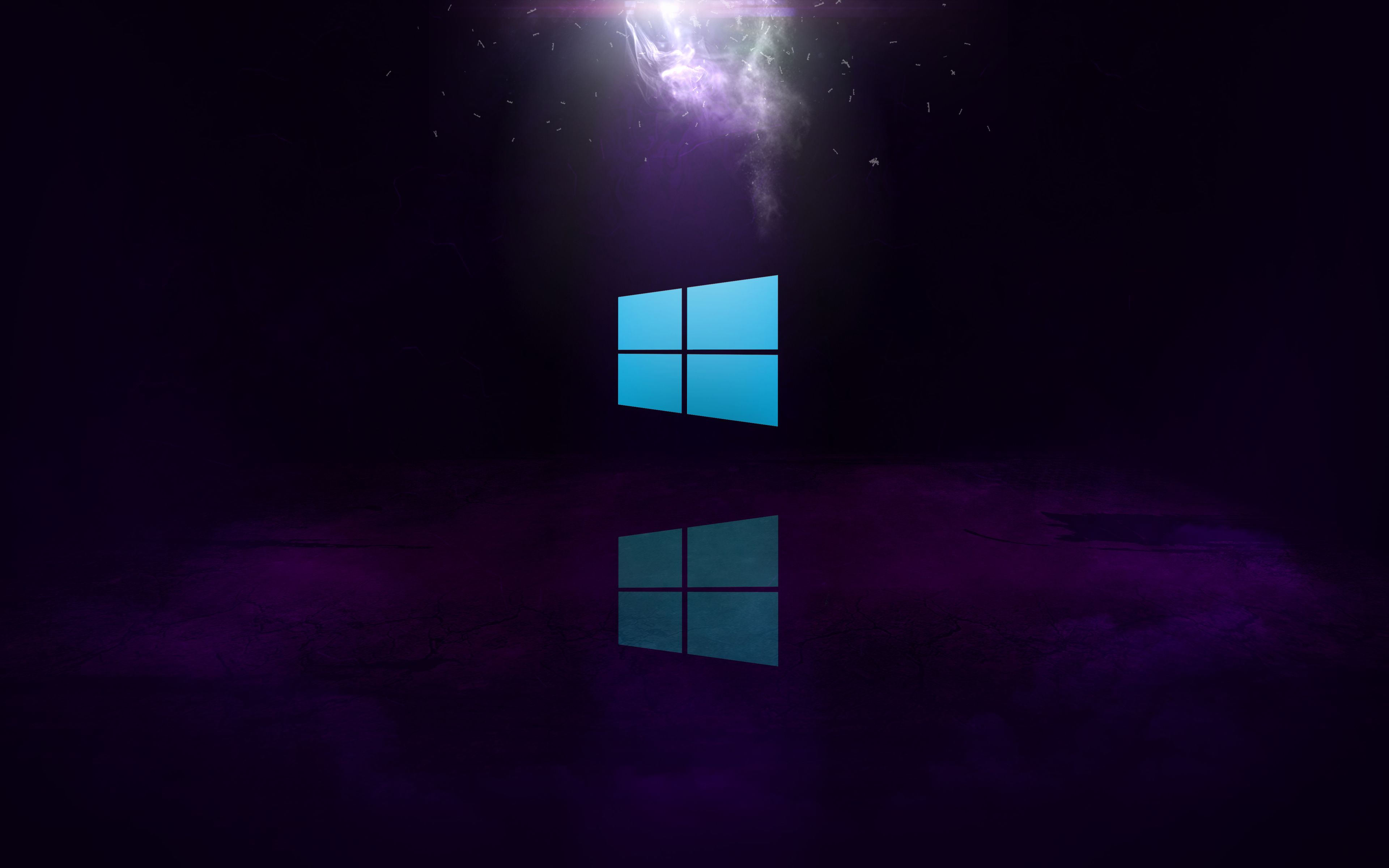 4k, Windows 10, purple background, Windows logo, Microsoft