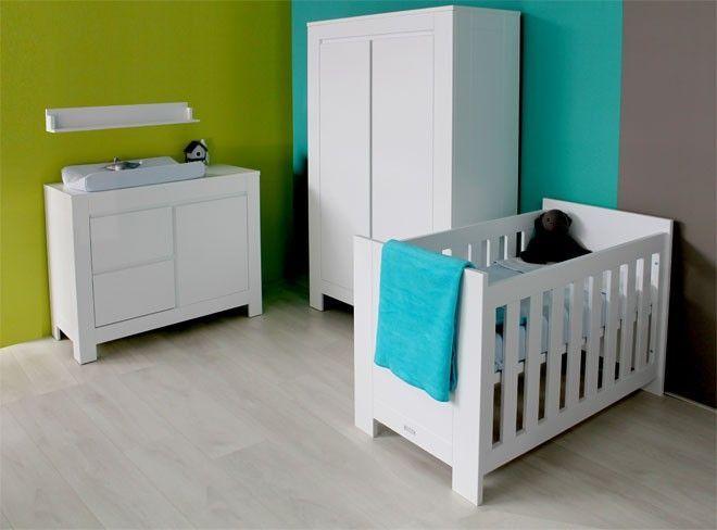 Bianco slaapkamer met meegroeibed / Wit Stel zelf uw baby slaapkamer ...