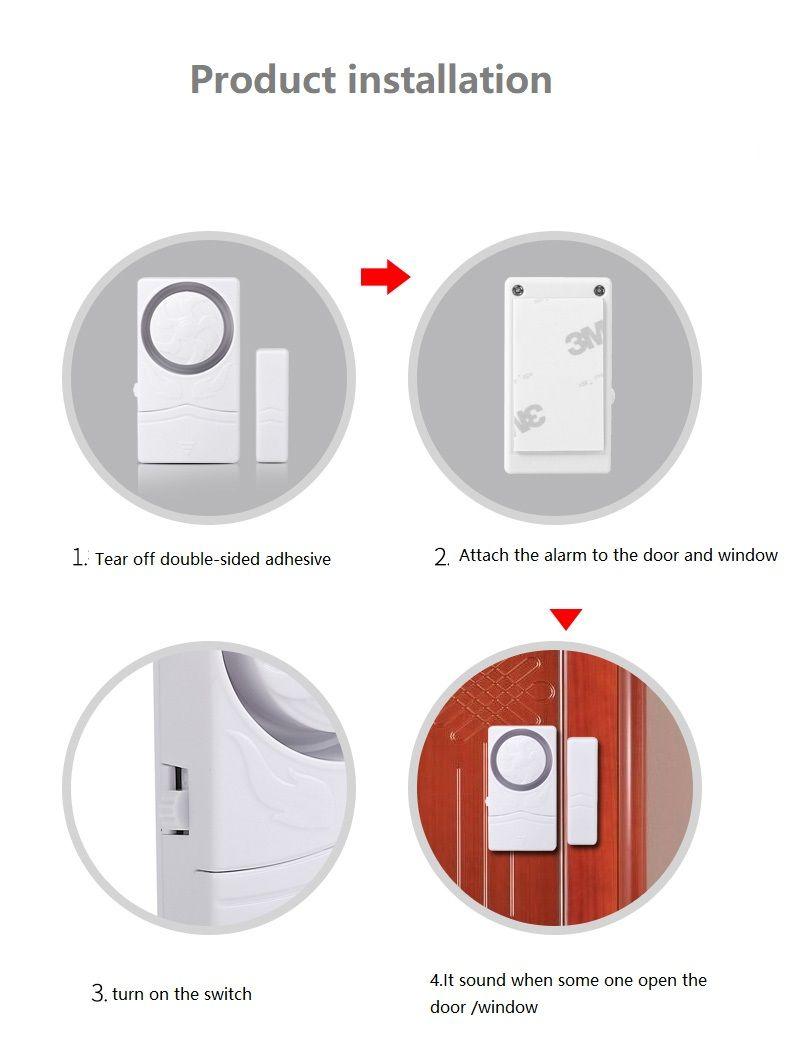 DARHO Sensors Protection High Quality Longer Door Window Wireless Burglar  Alarm System Safety Security Device Home